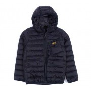 Barbour International Ouston Hooded Quilted Jacket Junior, M, Svart