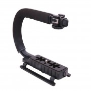 Ulanzi U-Grip Triple Schoen Mount Video Actie Stabiliserende Handvat Grip Rig voor iPhone 8 X Gopro Smartphone Canon Sony DSLR Camera
