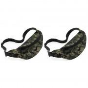 Bagbase 2x Heuptasjes/buideltasjes camouflage/leger print 38 cm