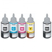 Original Epson Ink All Colors + Black Extra 70 Ml Each For L100/L110/L200/L210/L300/L350/L355/L550