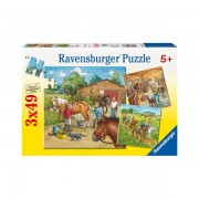 Puzzle lumea cailor 3x49 piese