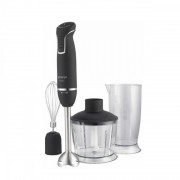 Blender de mana Gorenje HBX604QB, 600 W, vas gradat 800 ml, tocator cu vas 800 ml, tel, turbo, negru