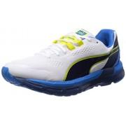 Puma Men's Faas 600 S v2 White, Cloisonné and Sulphur Spring Mesh Running Shoes - 8 UK/India (42 EU)