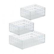 Like-It -it 90012 Bricks Papelera, Color Blanco translúcido
