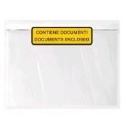 Socepi Buste autoadesive porta documenti dimensione 240x125mm con scritta - confezione 100 pz.