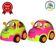 Smiles Creation Push and Go Friction Cartoon Car (Pack of 2)