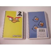 Angry Birds 2 Pack Spiral Notebooks By Mead (Yellow Bird, 3 Blue Birds)