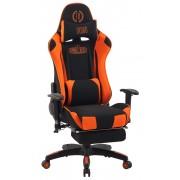 Poltrona Gaming Massaggiante Turbo XFM in Tessuto, nero/arancione CLP, nero/arancione, altezza seduta