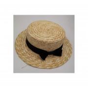 Verano hecho a mano Natural trigo Pajadel sol con arco de ala anchas planos de la playa de los tapas protección solar A1 Sombrero LANG(#kids size)