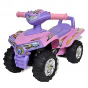 vidaXL Pink-purple Children's Ride-on Quad with Sound and Light