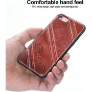 Telefoonhoesje.nl iPhone 8, Leather coated gel hoesje, Rood-bruin - Geschikt voor: Apple iPhone 8