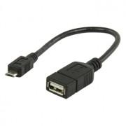 Micro USB OTG kabel voor smartphones 20cm