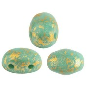 Samos® par Puca® - Opaque Green Turquoise Splash, 10 gram