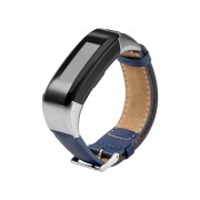 PU Leather Watch Bracelet with Connector and Tool for Garmin Vivosmart HR - Blue