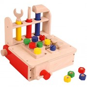 Portable Workbench - Wooden Toys - Brainsmith - Early Learning - Hand eye coordination - Fine Motor Skill - Concentration buidling - Imagination - Counting Skills - Brain Development - Birthday gift - Return Favour - Play and Learn - Child safe toys - 3 y