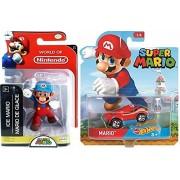 "Cartoon Hot Wheels Character Car 2017 Super Mario Video Game Car & World of Nintendo 2.5"" Ice Mario Action Mini Figure Pack"