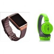 Mirza DZ09 Smart Watch and SH 10 Bluetooth Headphone for LG OPTIMUS L5 II(DZ09 Smart Watch With 4G Sim Card Memory Card| SH 10 Bluetooth Headphone)