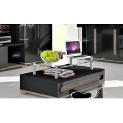 Argo High Gloss Black Coffee Table With Glass Top