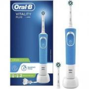 Електрическа четка за зъби Oral-B Vitality Plus Cross Action, 2 глави за четка за зъби, Син/Бял