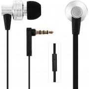 Audífonos Bluetooth Manos Libres Inalámbricos, ES-900i Aislamiento De Ruido Auricular Intra-auricular Con Cable De 1,2 M De Micrófono (plata)
