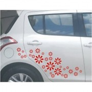 Elegant 30pcs Car Truck Van Vinyl Wall Sticker Stickers Flower Design 46
