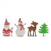 Karácsonyi ragasztós habmatrica 4 féle 60 darabos