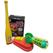 Ratna's Ratnas Automatic Pitcher Game Unbreakable Includes 1 Bat 3 Balls Pitcher