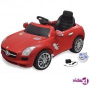 vidaXL Električni Mercedes Benz SLS AMG crveni, 6 V s daljinskim upravljačem