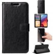 Nokia 6 Book PU lederen Portemonnee hoesje Book case zwart