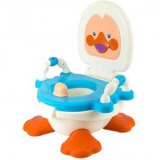 Abasr Panda Creation Ducky Potty Trainer Seat (Blue & White)