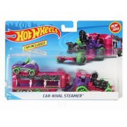 SET CAMION SI MASINA SPORT HOT WHEELS CAR NIVAL STEAMER
