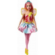 Papusa Barbie - Printesa zana cu parul roz