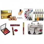 PROFESSIONAL BEAUTY MAKEUP KIT/COMBOS FOR BRIDAL (PACK OF 21) + ELEGANT VANITY FREE.
