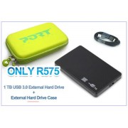 1TB Hard Drive Bundle (Green / Pink)
