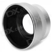 37mm 0.45X Pro Camara Digital Precision Wide Angle Conversion Lens w / Macro - Plata