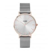 CLUSE Horloges La Boheme Mesh Rose Gold Silver Zilverkleurig