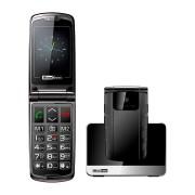 Maxcom MM822BB kártyafüggetlen, extra nagy gombokkal, vészhívóval fekete