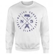 Native Shore Authentic Surf Circle Sweatshirt - White - S - White