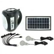 Kit Panou Solar GDLite GD8009 cu Acumulator, USB, Radio si Lumini