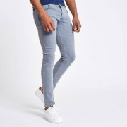 River Island Mens Grey Eddy skinny jeans (Size 36 extra long)