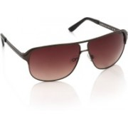 United Colors of Benetton Rectangular Sunglasses(Brown)