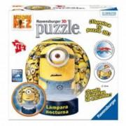 Puzzle 3D Minions Cu Lumina 72 Piese curbate pliate sau plate.