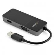 Adaptador de video de USB-A A HDMI y VGA 4K 30HZ, Startech