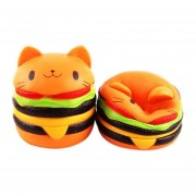 Animados Cat Hamburger Super Slow Rising Fun Kawaii Toy For Kids