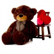 5 Feet Fat and Huge Brown Bow Teddy Bear