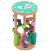 Labirint dexteritate cu spirale şi mărgele din lemn bebeluşi