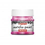 Pentart Metál magenta színű akril bázisú hobbi festék 50 ml
