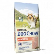 Purina Dog Chow Adult Sensitive lazac - 2 x 14 kg