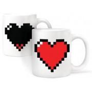 """Magisk Mugg """"""""Pixel-Hjärta"""""""""""