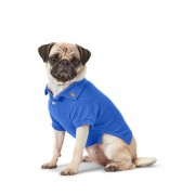 Ralph Lauren Pet Cotton Mesh Dog Polo Shirt - New Iris Blue - Size: Medium